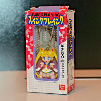 1994 Bandai Swing Playing Super Sailor Moon collectible Fan Pull figure figural