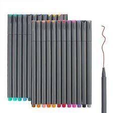 24 Fineliner Color Pens Set, Taotree Fine Line Colored Sketch Writing Drawing Pe