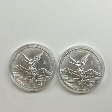 2017 Mexico 1oz Silver Libertad Onza Lot Of 2 BU .999 Fine These Are Nice.
