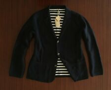 New Rare CLUB MONACO Knitted Blazer 100% Cotton Navy Blue Jacket Men's M L