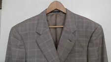 ARMANI Collezioni 2 button beige brown hounds tooth window wool blazer 44R ITALY