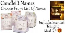 Personalised Name Tealight Candle Holder White Brand New Ideal Gift 🎁 Idea