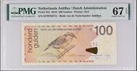 Netherlands Antilles 100 Gulden 2016 P 31 h Superb GEM UNC PMG 67 EPQ High
