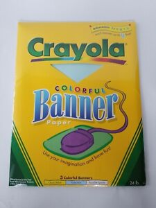 Crayola Colorful Banner Paper 3 Adjustable up to 11 feet blue, yellow, speckle