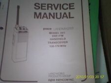 Pace Landmaster 2-Way Radio Model 365 Handheld Transceiver Service Manual