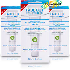 3x Fade Out Extra Care Brightening Eye Defence Cream SPF25 15ml Anti Ageing