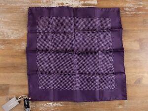 TOM FORD purple polka dots motif silk pocket square authentic - NWT