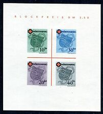 GERMANY FRENCH OCCUPATION ZONE WURTTEMBERG RED CROSS SHEET 8NB4a PERFECT MNH
