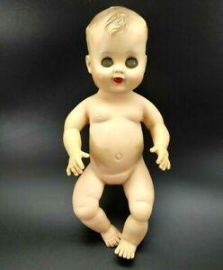 Vintage Baby Boy Rubber Doll Green Sleepy Eyes 1950's