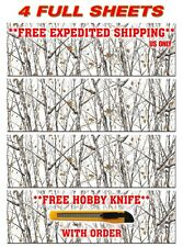 "4 CAMOUFLAGE VINYL DECAL 48"" x 15"" GLOSS TRUCK CAMO TREE PRINT PICKUP SNOW."