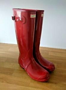 Hunter Tall Gloss Gummistiefel- Lack- Rot Größe 42 Neu!!! Mega Rar!!!
