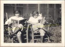 1920s Flapper Girls Country Cabin Adirondack Chair Read Smart Set Magazine Photo