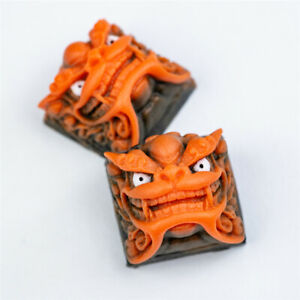 Chinese Style Lion Head Resin Keycaps For Cherry MX Keyboard Animal Key Caps New