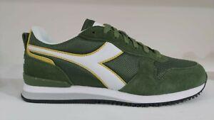 Scarpe uomo Diadora Olympia sportivo calzature sneakers verde giallo mod.saucony
