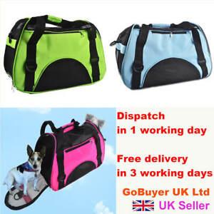 Pet Carrier Bag - Portable Soft Fabric Folding Dog Cat Carrier Bag
