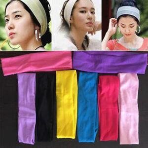 Women Sport Sweat Sweatband Headband Yoga/Gym Biker Stretch Hair Head Band Wrap