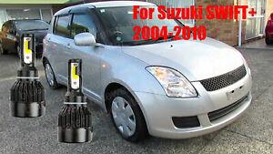 LED For SWIFT+ 2004-2010 Headlight Kit H4/9003 6000K White CREE Bulbs HI/Lo Beam