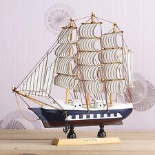 24cm Wood Mini Miniature Model Interior Decoration Sailing Boat Ship Decor Props