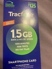 TracFone Smartphone Plan - 365 Days/1500 Talk/1500 Text/1500 Data  24HR REFILL