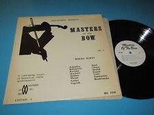 Mischa Elman / Discopaedia presents: Masters Of The Bow (MB 1006) - LP