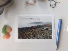 3 Variety Sympathy Cards ❤️Foggy Coastal Sympathy Blank Photo Note Card 🌺