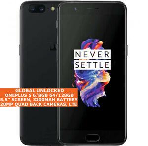 "ONEPLUS 5 6/8gb 64/128gb Octa-Core 20mp Fingerprint 5.5"" Android LTE Smartphone"