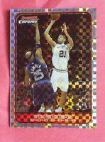 2006 topps Bowman Chrome Tim Duncan xfractor card San Antonio Spurs hof 59/150