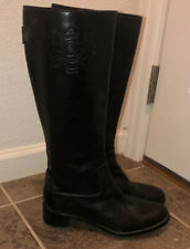 Aetienne Aigner Black Leather Boots