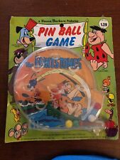 Vintage Flintstones Pinball Game On Card Great Condition