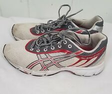Asics Womens Speedstar 4 White Rose T071N size 8 red gray Sneakers Shoes