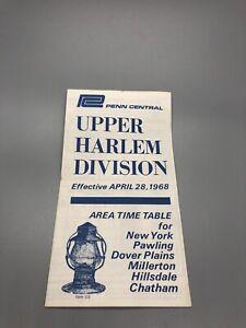 Upper Harlem Division Rail Road Schedule Penn Station 1968 Historic Cool!