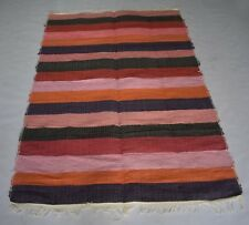 Multi Color Handmade Kilim Area Rug Multi Color Mix Fabric 3.6x5.8 Feet DN-1374