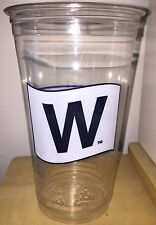 CHICAGO CUBS WORLD SERIES BEER MUG CUP FLY THE W FLAG BEER 24oz CHAMPS WRIGLEY
