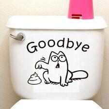 Funny Simon's Cat Goodbye Toilet Sticker Vinyl Sticker Decal Home Bathroom Decor