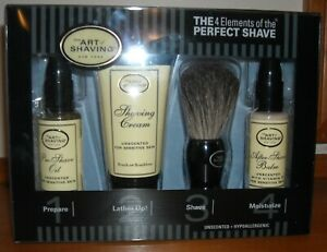 The Art of Shaving 4 Elements of the Perfect Shave Unscented Kit New
