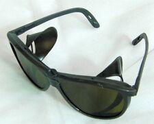 Vintage USSR Made Sunglasses Dark Violet Glass Lenses Folding Side Protectors