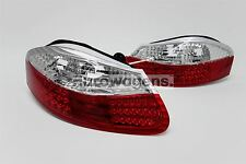 Porsche Boxster 986 96-04 LED Crystal Clear Red Rear Lights Set Driver Passenger