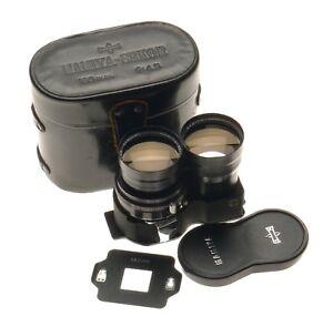 Mamiya-Sekor SUPER 1:4.5 f-180mm for Mamiya C TLR Camera Lens Cap Leather Keeper