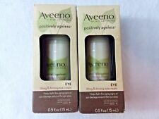 2 AVEENO POSITIVELY AGELESS LIFTING & FIRMING EYE CREAM .5 oz Two New