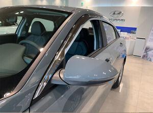 Chrome Weather shields Visors 6p for 2021 Hyundai i30 4door Sedan