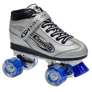 NEW RDS Comet Silver Light Up Wheels Roller Skates Size JNR 12 (18.5cm)