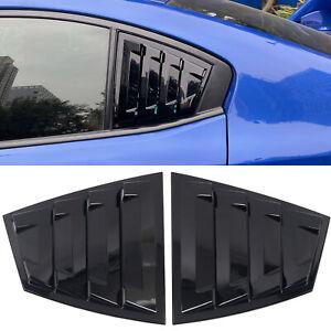 For Subaru WRX / WRX STI 2015-2020 Glossy Black Rear Window Shutter Cover 2pcs
