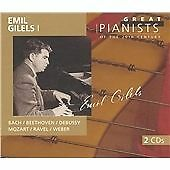 "CD x 2 PHILIPS Great Pianists 20th Century 34: 456 793-2 ""Emil Gilels I"" Bach..."