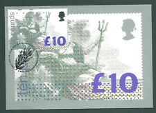 GB 1993 £10 Britannia PHQ card Edinburgh First Day Postmark on front