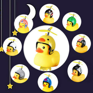Cartoon Yellow Little Duck Shape Bicycle Bell Shining Mountain Bike Head Light