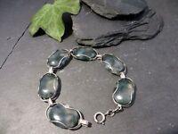 Tolles 835 Silber Armband Quarz Oval Jugendstil Art Deco 60er 70er Retro Vintage