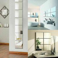 9 Pcs 3D Acryl Quadrat Spiegel Wandaufkleber Selbstklebend Art DIY Zuhause Dekor