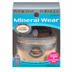 NIB Physicians Formula Mineral Wear Loose Powder Foundation 2451 Creamy Natural