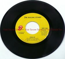 """VG+ 1973 The Rolling Stones - Angie / Silver Train 7"""" 45"""
