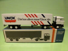 LION CAR 3300 DAF TRUCK + EUROTRAILER - UNOX   - WHITE 1:50 - GOOD IN BOX